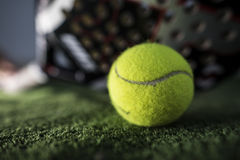Paddle tennis macro wide angle Royalty Free Stock Photography