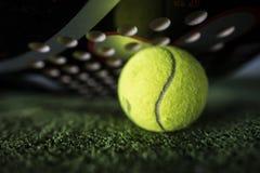 Paddle tennis macro wide angle Stock Image