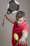 Paddle tennis master Stock Photos