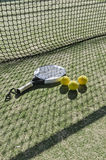 Paddle tennis  objects with hard sun shadow Stock Photo