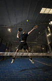Paddle tennis player Stock Image