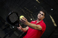 Paddle tennis player Stock Images