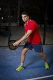 Paddle tennis player Royalty Free Stock Image