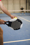 Paddle tennis player Stock Photos