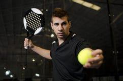 Paddle tennis player Stock Photos
