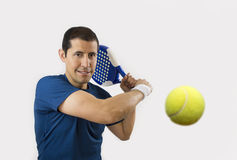 Paddle tennis player. Portrait of a young male paddle tennis player Stock Photography