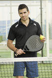 Paddle tennis player posing Royalty Free Stock Photos