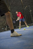 Paddle tennis player Stock Photography