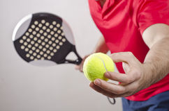 Paddle tennis player Royalty Free Stock Photos