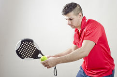 Paddle tennis player Royalty Free Stock Images