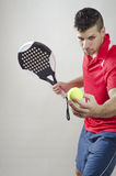 Paddle tennis player Royalty Free Stock Photography