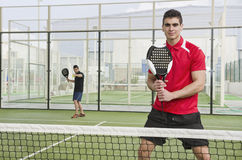 Paddle tennis players Royalty Free Stock Photography