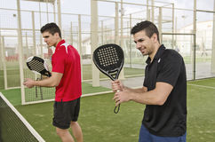 Paddle tennis players Stock Photos
