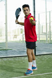 Paddle tennis serve Royalty Free Stock Photos