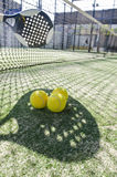 Paddle tennis shadow. Paddle tennis objects with hard shadows effect royalty free stock images