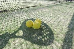 Paddle tennis shadow Stock Photos