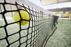 Paddle tennis shot Royalty Free Stock Images