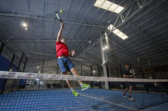 Paddle tennis smash Royalty Free Stock Image