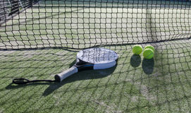Paddle tennis still life Stock Photo
