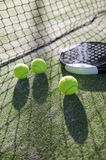 Paddle tennis still life Royalty Free Stock Photos