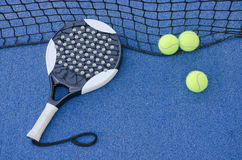 Paddle tennis still life Royalty Free Stock Image