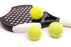 Paddle tennis time. Isolated paddle tennis objects on white background Stock Photography