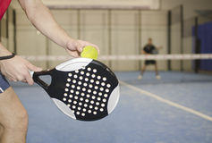 Paddle tennis training Stock Photos