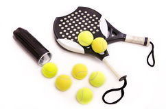 Paddle Tennis on white Stock Photos