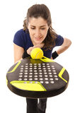 Paddle tennis for women. Stock Photo
