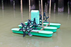 Paddle wheel aerator Royalty Free Stock Photos