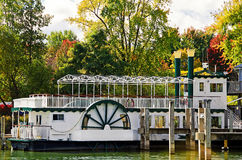 Paddle Wheel in autumn Stock Photography