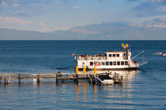 Paddle wheel boat on a lake Tahoe Royalty Free Stock Image