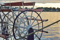 Free Paddle Wheel Of Old Cruise Steamer Ship Stock Image - 189644491