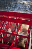 Paddle Wheel Steam Boat. Paddle Wheel Tour Boat On The Mississippi River stock photo