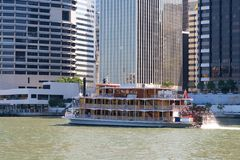 Paddle Wheel Steamer Royalty Free Stock Photo