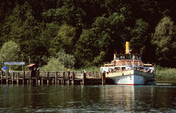 Paddle wheel steamer Stock Photo