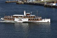 Paddle Wheel Steamer as Tourist Attraction, Kiel, Germany Stock Photo
