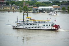 Paddle Wheeler Creole Queen in New Orleans Stock Photos