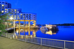 Paddle wheeler pub and inn Royalty Free Stock Images