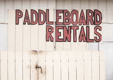 Paddleboard rentals Stock Image