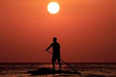 Paddleboarder arkivbild