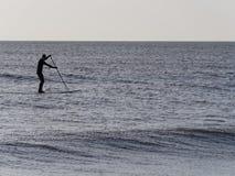 Paddleboarder, Camber, Kent fotografia royalty free