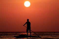 Paddleboarder Stock Photography