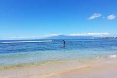Paddleboarding в Мауи Стоковое Фото