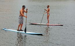 Paddleboarding Royalty Free Stock Photo