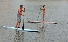 Paddleboarding Fotografia Stock Libera da Diritti