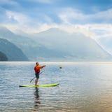 Paddleboarding stock foto's