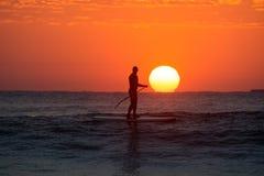 Paddleboarding Foto de Stock Royalty Free
