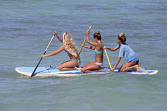 Paddleboarding Images libres de droits