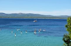 Paddleboarding - Bol Croatia Stock Photography